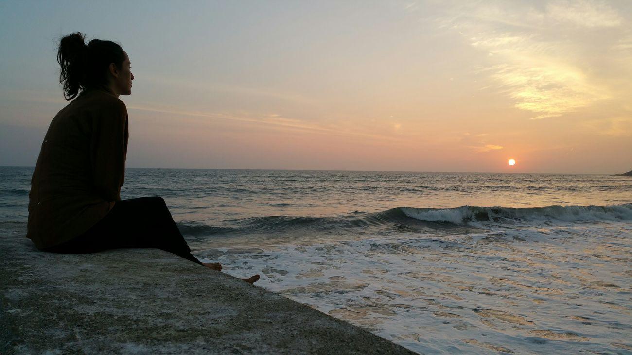 50shadesofbai Hanging Out Enjoying Life No Filter Losangeles Samsungnote4 Beach Sunset Lifeisbeautiful