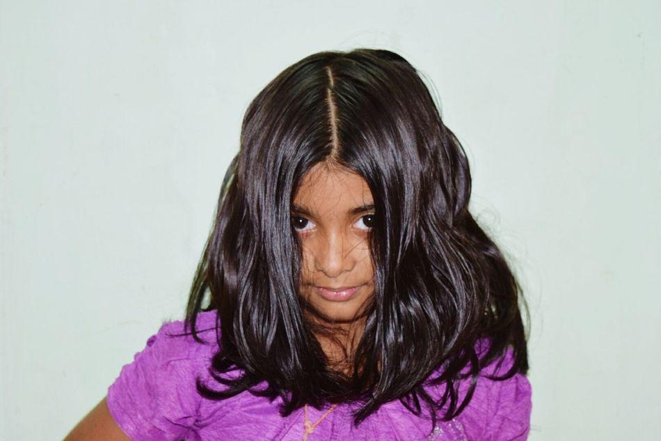 Check This Out Hi! Hello World Enjoying Life Taking Photos Nikonphotography Kidsportrait Kidsphotography Kidsmood Indian Girl Asian Girl Portrait Photography Portrait Of A Woman Loose Hair Cheese! Smile :) Girlpower Hair Style