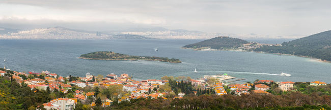 Spring on the Prince Islands of Istanbul II. The city overhead is a stark contrast of the peace and tranquility of the Islands. Some of us try to find our inner peace there on the weekends. - Shot initially as a multirow panorama, this series is part of a resolution overkill project where the original image had more than 200 megapixels of detail. Burgazada Island Islandlife Istanbul Istanbul Turkey Landscape Landscape_Collection Landscape_photography Natanomalous Natanomalous.com Nature Nature Photography The OO Mission Fine Art Photography Panorama Panoramic Prince Islands Sea Sea And Sky Seascape Seaside Spring Springtime Showcase April The Architect - 2016 EyeEm Awards