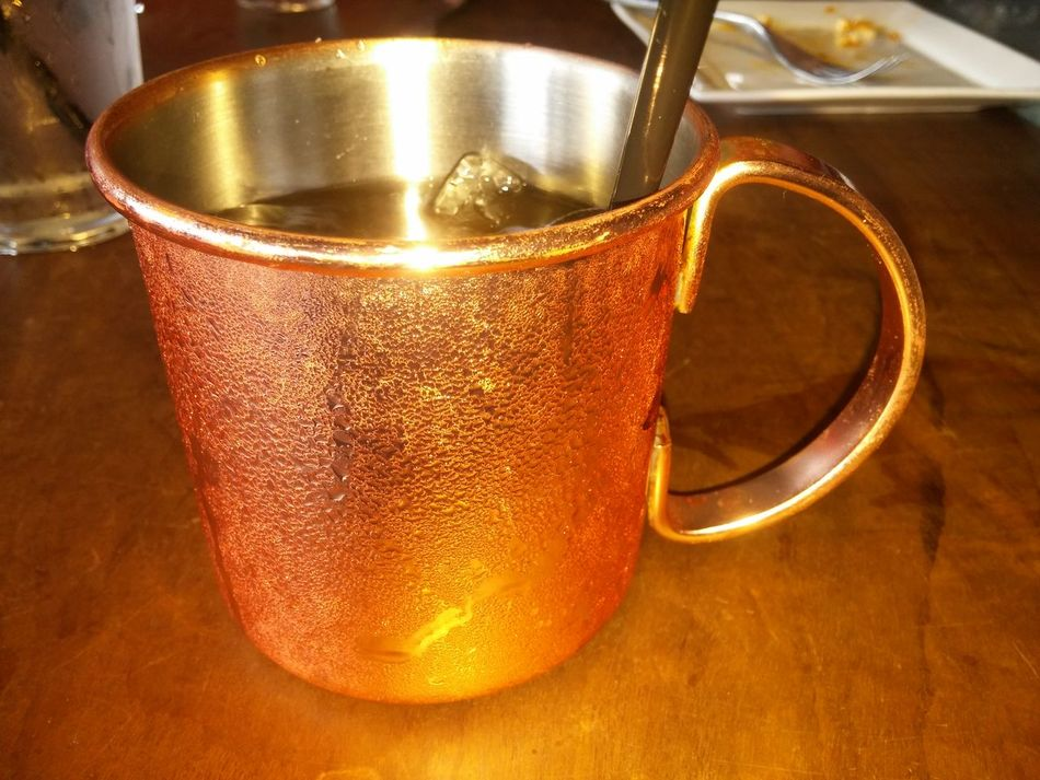 Food Photography Chilled Moscow Mule Copper Mug