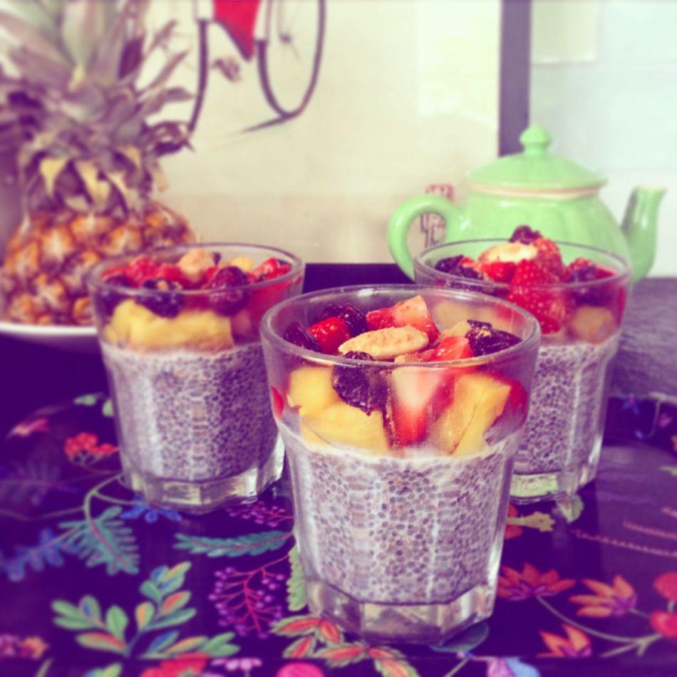 Chia Chiapudding Healthy Food Freshfruit Breakfast Enjoying Life Healthydessert