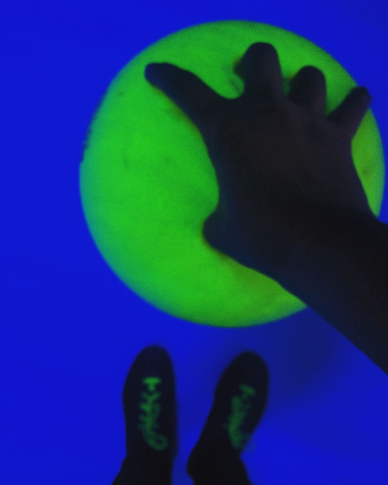 Green Color Old Habits Die Hard Bowling Neon Neon Lights Bowling Ball Bowling Shoes Disco