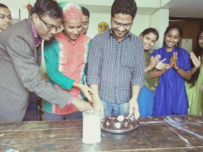 Bappy vhi s birthday at office