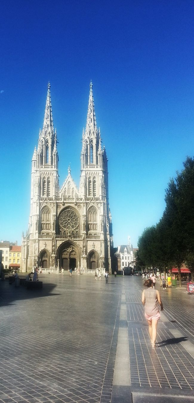 ostend belgium Tourist Attraction  Church Sunny Day So Tall