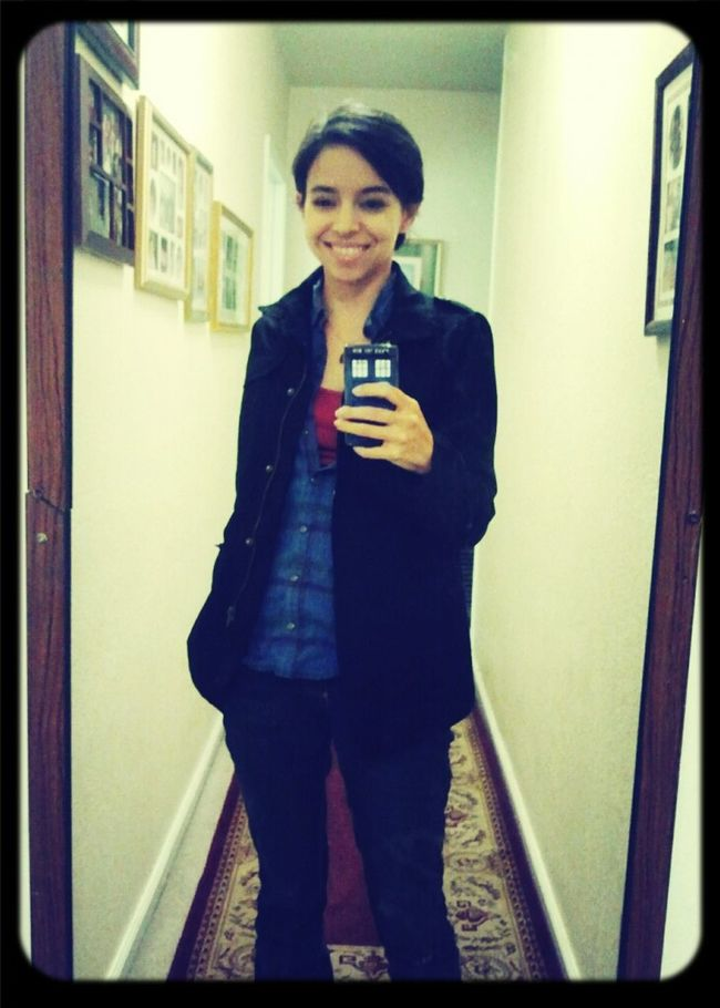Outfit of the day. Love this jacket.