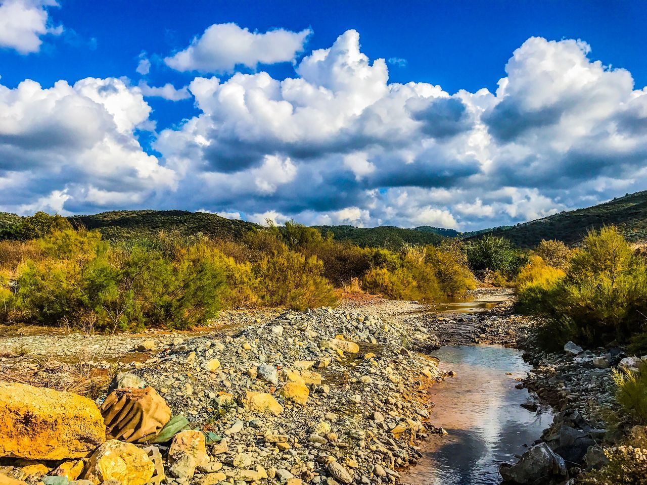 Nature Sky Scenics Beauty In Nature Cloud - Sky No People Water Tranquility Mountain Outdoors Non-urban Scene Tranquil Scene Day Landscape Idyllic Tree Autumn Cloud Cloudy River Nature Blue Tree Followme Follow4follow