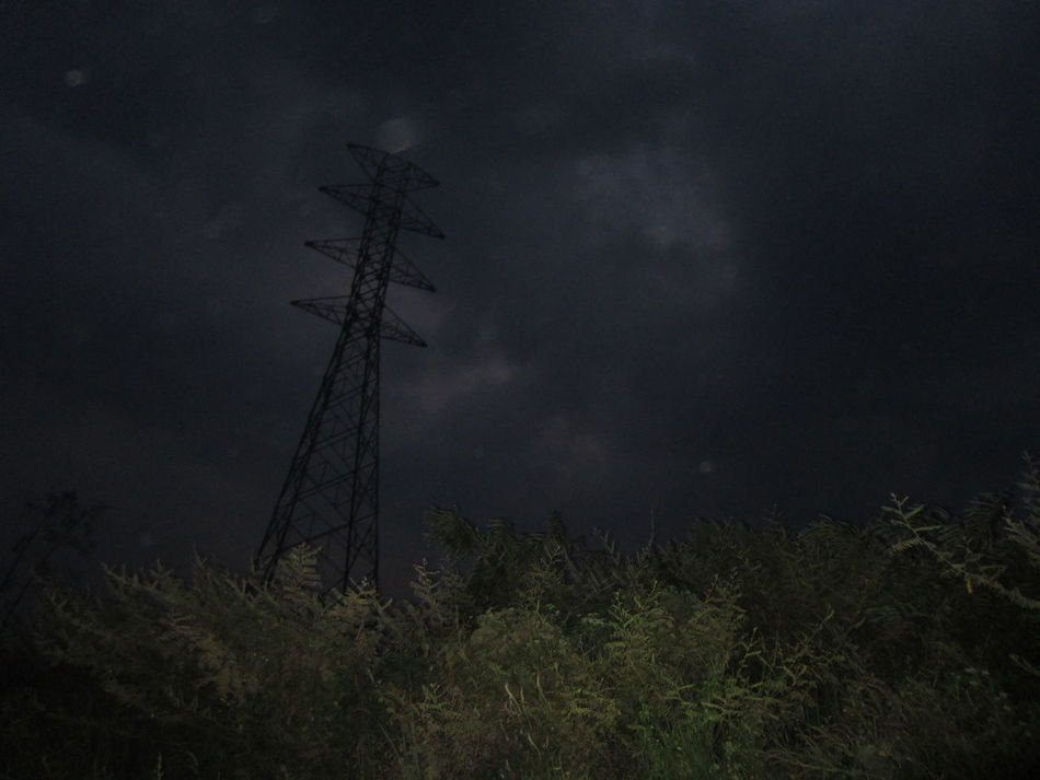Tree Nature Night Low Angle View Sky Beauty In Nature Landscape Outdoors No People Darkness And Light Tower Electric Tower  EyeEmNewHere Welcome To Black