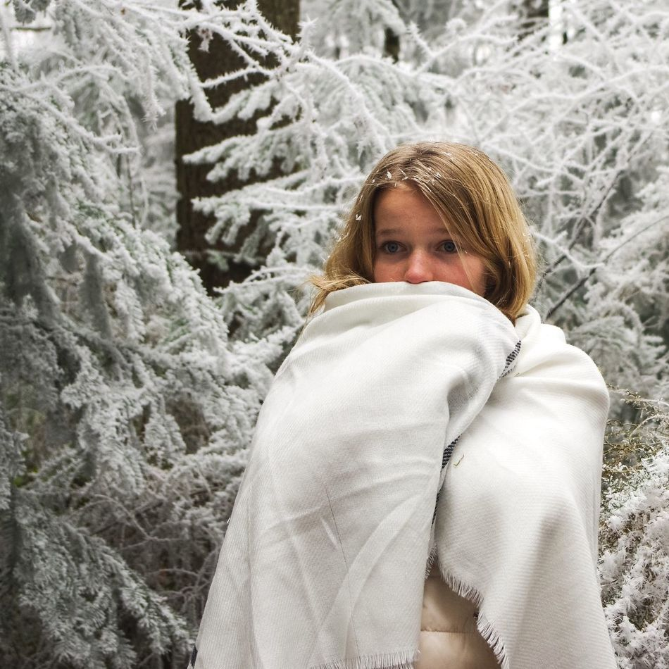 Winter Cold Temperature Snow Looking At Camera One Person Blond Hair Wrapped Portrait People Warm Clothing Nature Day Indoors  Adults Only Young Adult Adult Winter Is Coming