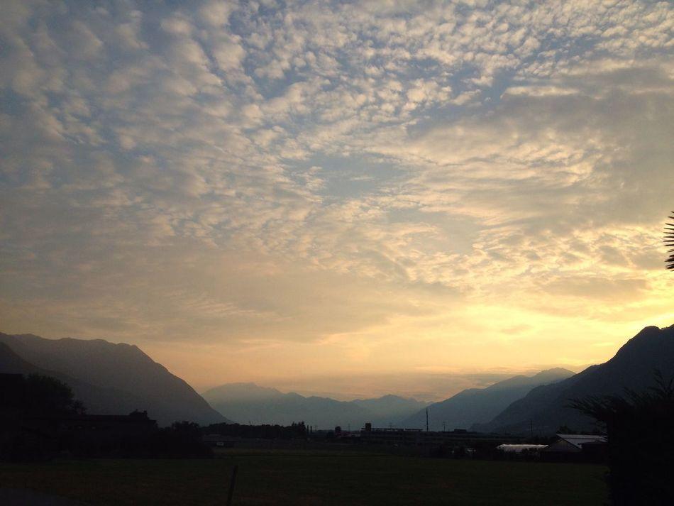 Clouds in the sky Atmosphere Beauty In Nature Cloud Cloud - Sky Cloudscape Dawn Landscape Majestic Mountain Range Sky Sunset
