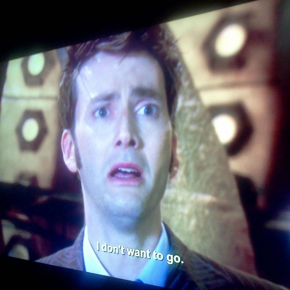 I arrived at the end. The end of the 10th Doctor. Goodbye david. Hello matt! Doctorwho Endoftime Part2 Davidtennant mattsmith geronimo!