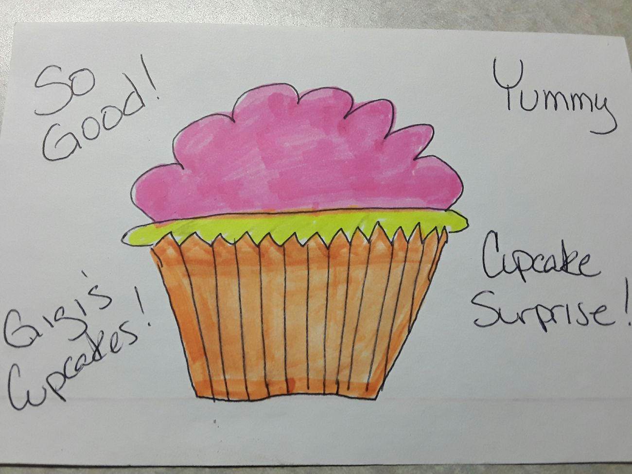 Day 74: Cupcake Surprise (apologies for the late post. I was so exhausted yesterday I fell asleep almost as soon as I got home) Today at work a Gigi's cupcake appeared on my desk. I was so excited to eat it that I forgot to take a photo, so here's my attempt to draw it. Guess I'll stick with photography! 365DaysOfAwesomeness PhotographyProject Day74 Cupcakes Drawing Gigiscupcake