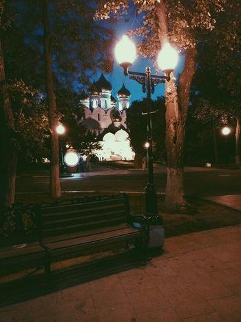 Russia, Yaroslavl, Night Street Light No People Illuminated