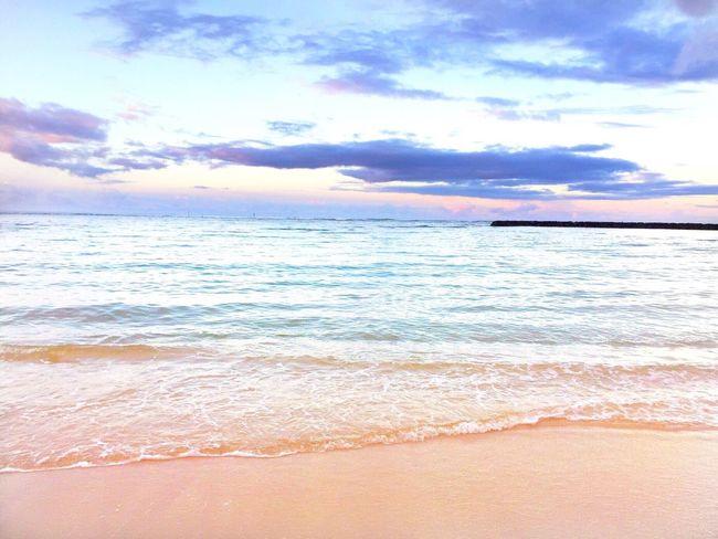 Honolulu, HI Sea Sky Water Beauty In Nature Nature Beach Wave No People Outdoors Sand IPhoneography Honolulu, Hawaii Waikiki Beach Oahu