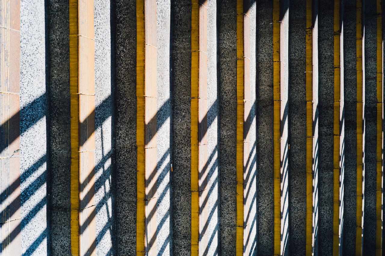 Asphalt Backgrounds Close-up Day Full Frame High Angle View Industry No People Outdoors Pattern Striped The City Light