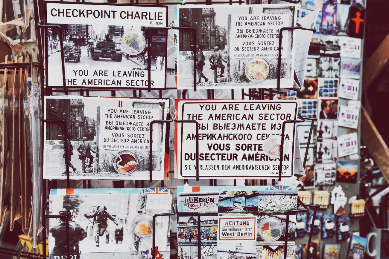 Capture Berlin Checkpointcharlie Text Postcard Close-up City Day
