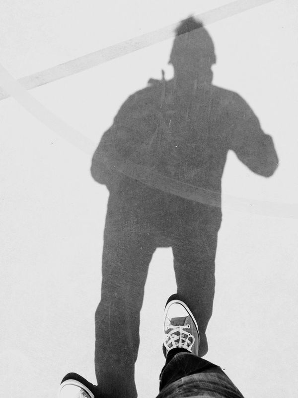 Two Is Better Than One Shadow Low Section Standing Person Shoe Leisure Activity Lifestyles Footwear Human Foot Personal Perspective High Angle View Focus On Shadow Outdoors Day Gesturing City Life EyeEm Bnw ILoveStreets Black & White