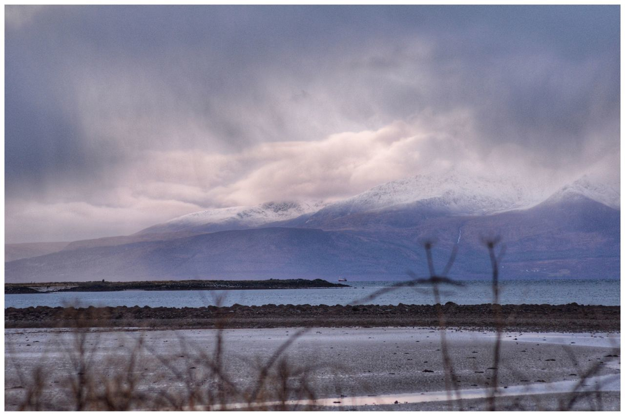 Rain Clouds heading towards Arran  Tranquil Scene Cloud - Sky Sky Mountain Nature Tranquility Scenics Beauty In Nature Water Outdoors No People Landscape Storm Cloud Day Winter Snow Eye4photography  EyeEm Gallery EyeEm Best Shots EyeEm EyeEmBestPics Tranquility Clouds And Sky