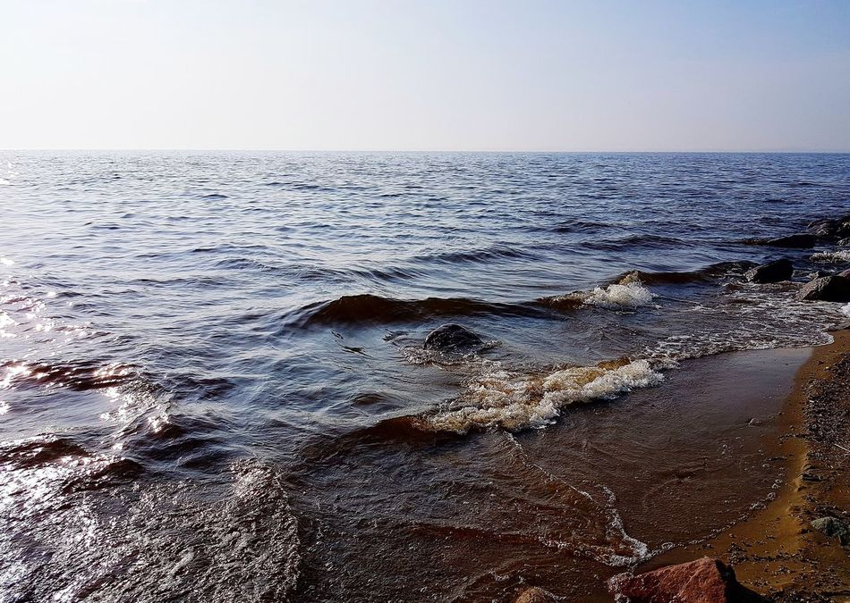 Curonian Lagoon Water Horizon Over Water Spring Stones Stones & Water Sky Nature Lithuania Lithuania Nature Ventes Ragas