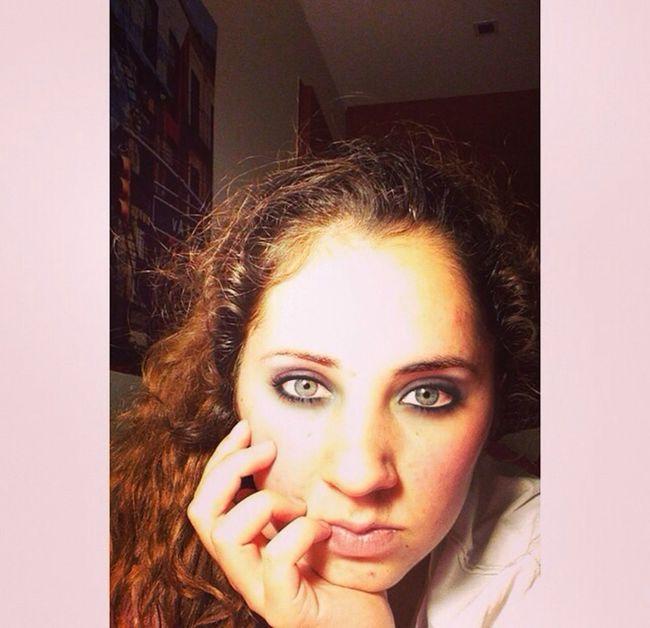 Model Beauty Make Up Eyes