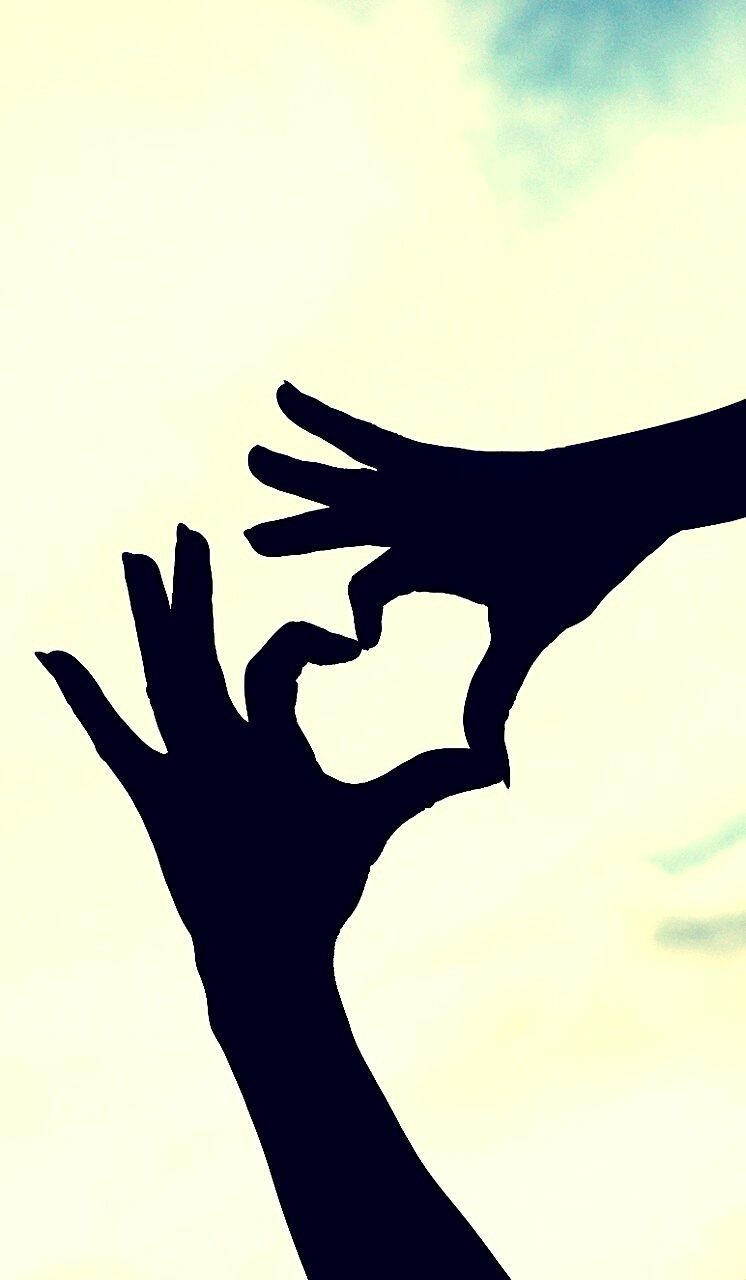 human hand, silhouette, human body part, sky, close-up, one person, ink, day, people, outdoors, adult