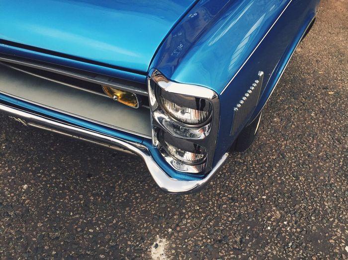 Classic car Pontiac PONTIACGTO Classic Car Headlight Chrome Blue