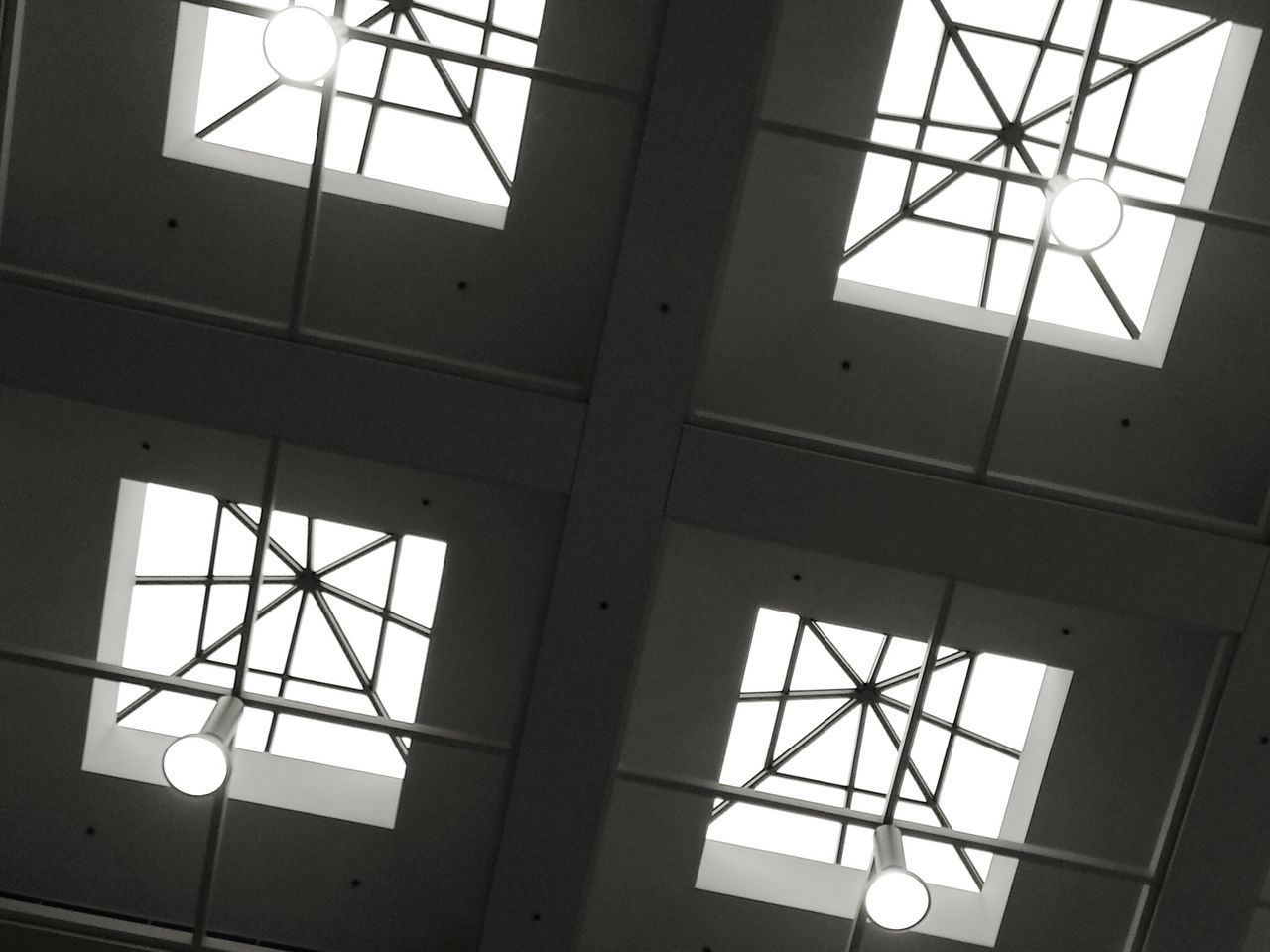 Four perspectives Indoors  Full Frame Day Built Structure No People Architecture Low Angle View Syracuse Ny Upstate Medical Center Healing Squares Light Windows Appointment Sky