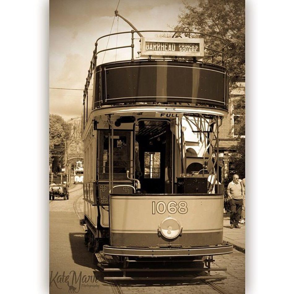 CRich Crichtramway Tram Derbyshire 1940 1940s Vintage K8marieuk Katemariephotographyuk Sepia Canon Squareadypro Ww2 Homefront