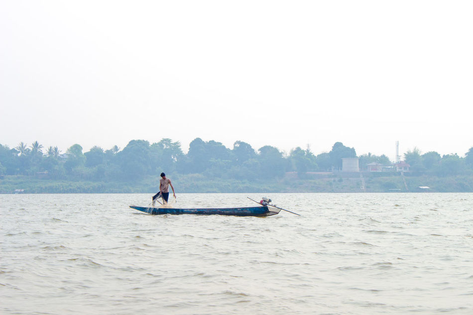 Beauty In Nature Boat Laos Lifestyles Mekong River Nature Outdoors River Tourist Vacations Water Waterfront ลาว