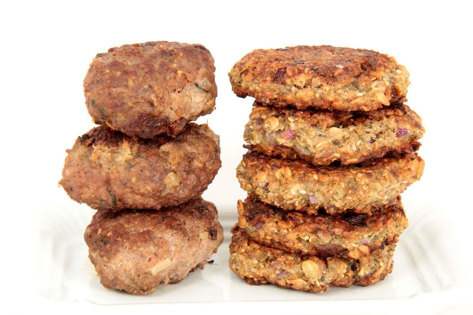 Close-up Composition Food Frikadellen Frikadeller Getreidebratlinge Klops Meat Organic Plate Ready-to-eat Still Life