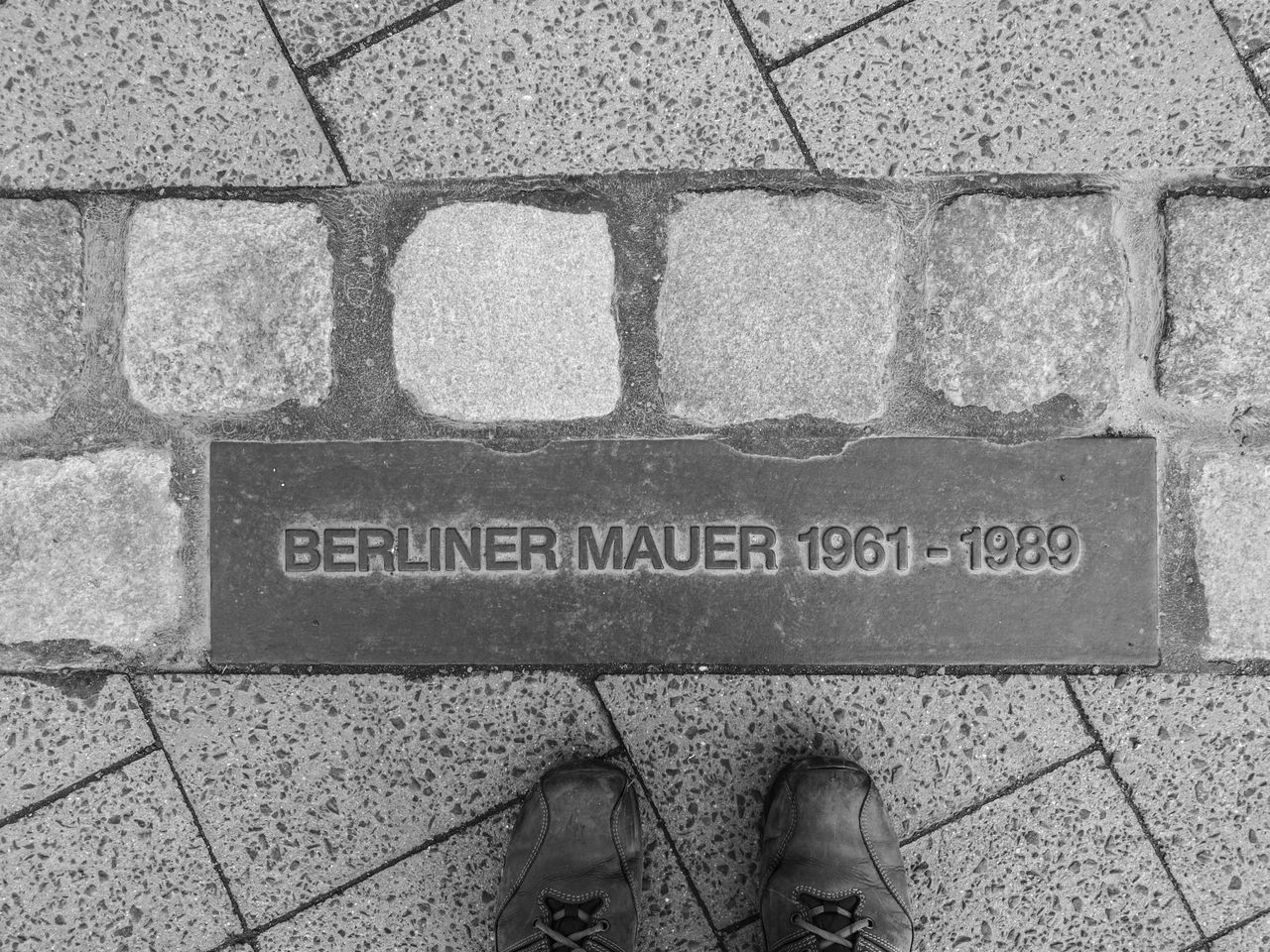 Berlin Berlin Photography Berliner Ansichten Berliner Mauer Day Human Body Part Human Leg Looking Down Low Section One Person Outdoors Shoe Standing Text