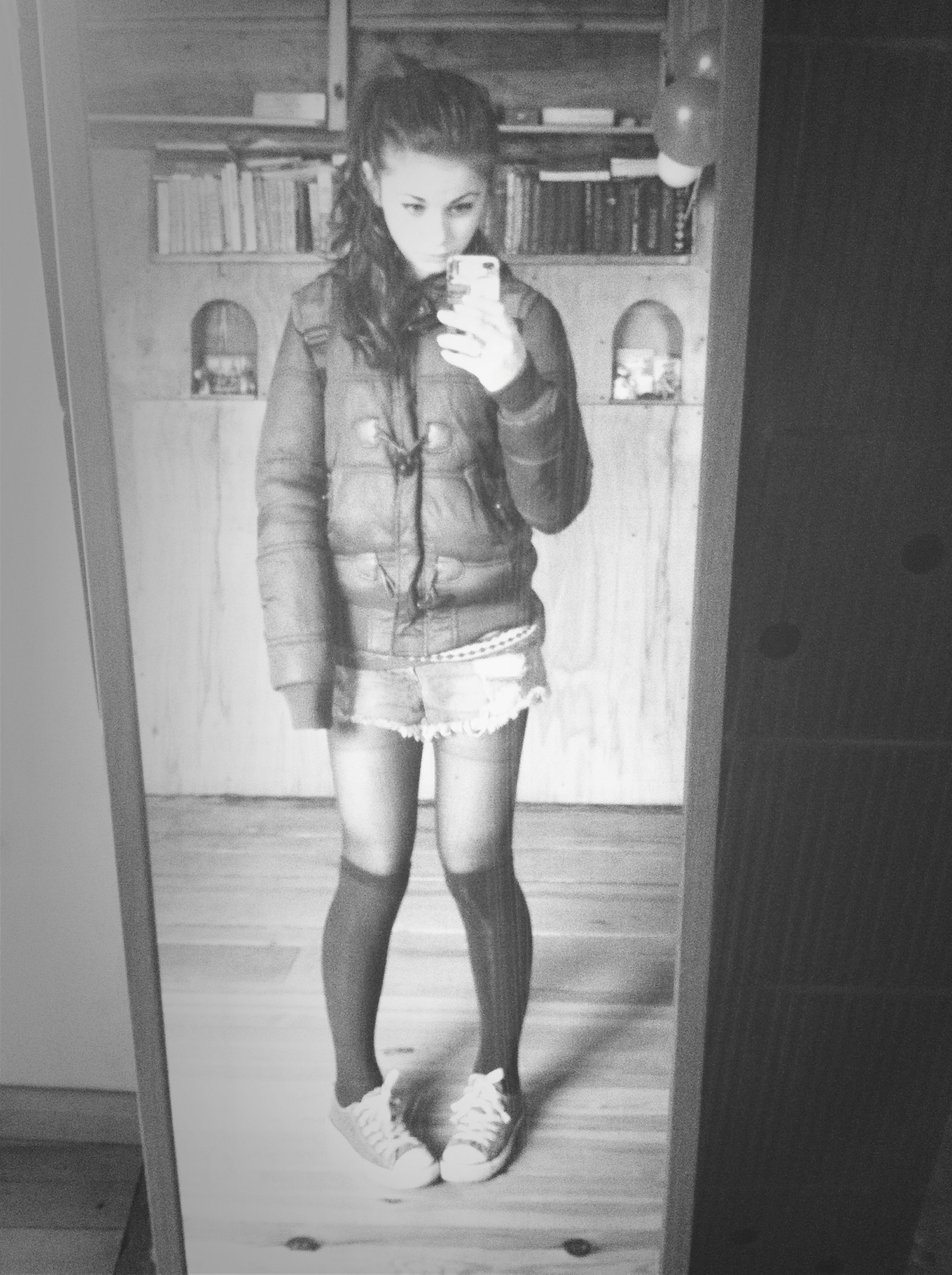full length, childhood, person, casual clothing, lifestyles, elementary age, indoors, boys, girls, leisure activity, innocence, front view, standing, cute, three quarter length, young adult, looking at camera, door