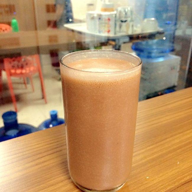 Choco-vanilla shake for merienda:) Herbalifeph Healthysnack