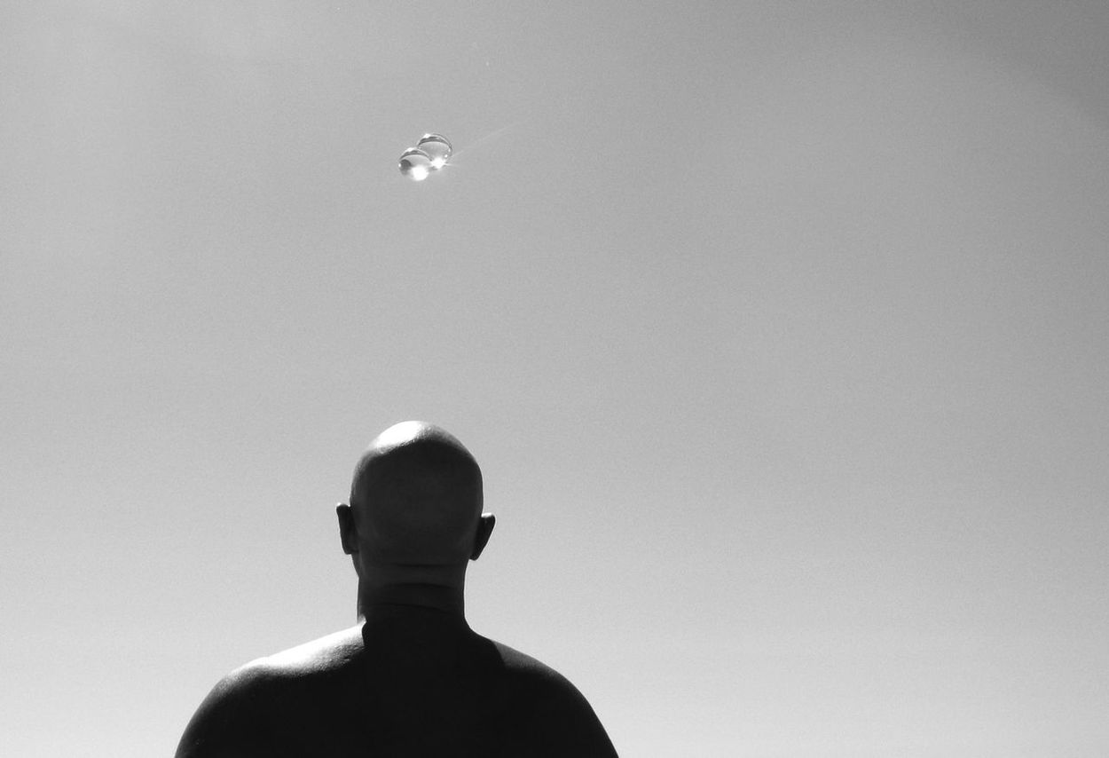 Bald Man Baldness Black & White Black And White Blue Leisure Activity Lifestyles Nature Outdoors Sky The Fine Art Photography The OO Mission