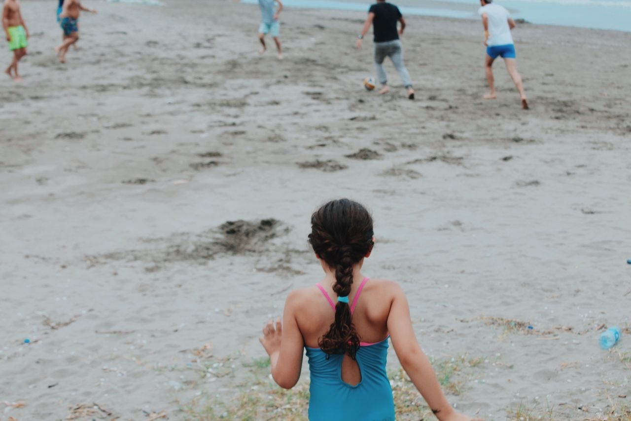 Hidden Gems  Iran Beach North Freedom Escape Play Shomal Shomal, Iran Bathing Suit  Sand Run Child Laughing Wind Caspian Sea Free Open Edit Life Summer Kid Back Of The Head Braids Football Followme