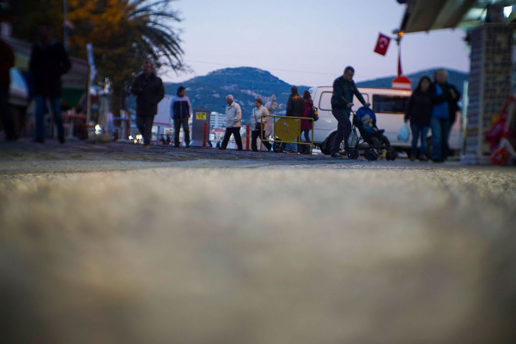 City Real People Rear View People Outdoors Mountain Day Travel Sony A6000 Streetphotography Legacy Lenses Finding New Frontiers Low Angle View Adult Children Family Seasidetown Capture The Moment