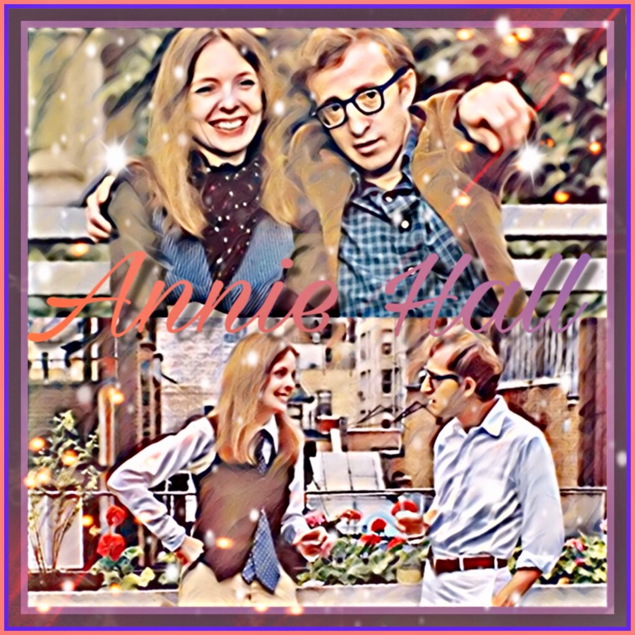 Watched this one after Breakfast at Tiffany's 💚💙💜 Anniehall Moviebinge Vintage Photo Classics Celebrities Woody Allen Diane Keaton Moviebinge Picsart