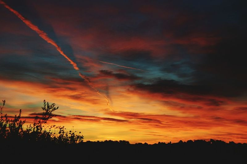 Sky Skyonfire Sunrise Frenchriviera Morning Fire Winter Nature Simplicity Simple Things Sun Blue Red Orange Yellow Violet Clouds Showcase: December Colors Of Autumn Here Belongs To Me