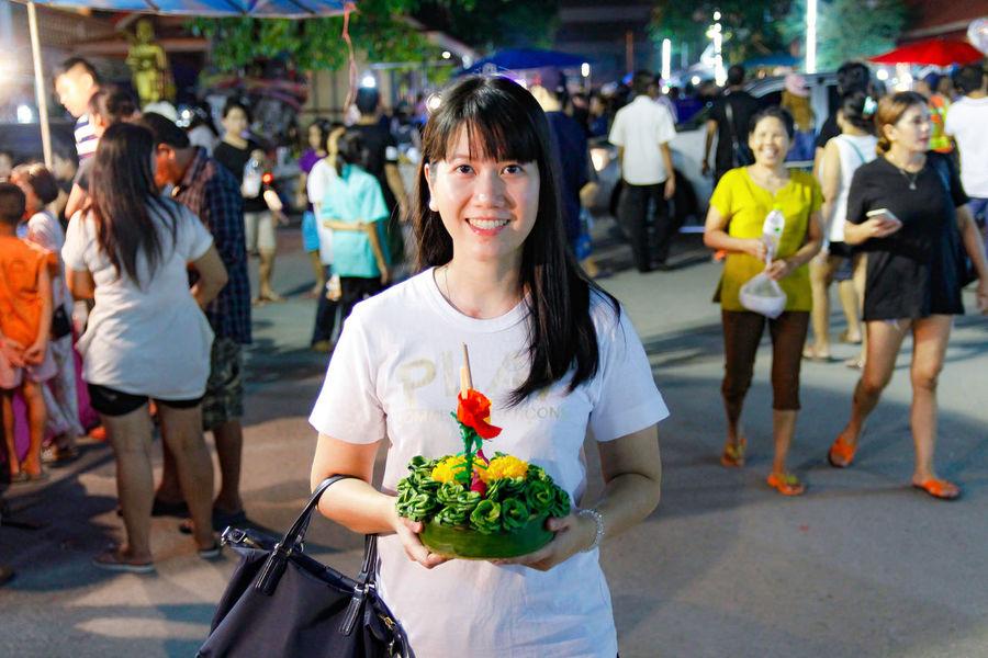 Festival Festival Season Thailand Girl Loy Krathong Loykrathong Festival Nigth 🌜⭐️ Nigth  Nigthphotography Portrait Smile :)