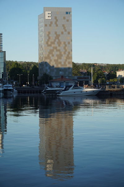 Architecture Building Exterior Outdoors Built Structure City Day No People Sweden Örnsköldsvik Reflection Water Architecture