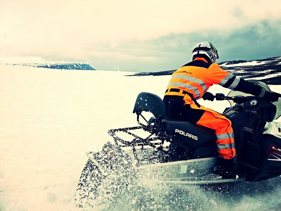 snowmobiling at Iceland ♡ Snow ❄ Snowmobile My Dad's Work Yo I Love Iceland