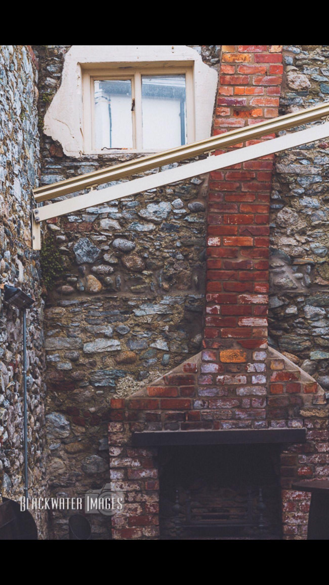 Beer Garden Northern Ireland Newcastle Mchughes Stone Brick Fire Grate Chimney Bricks Grate Old Window