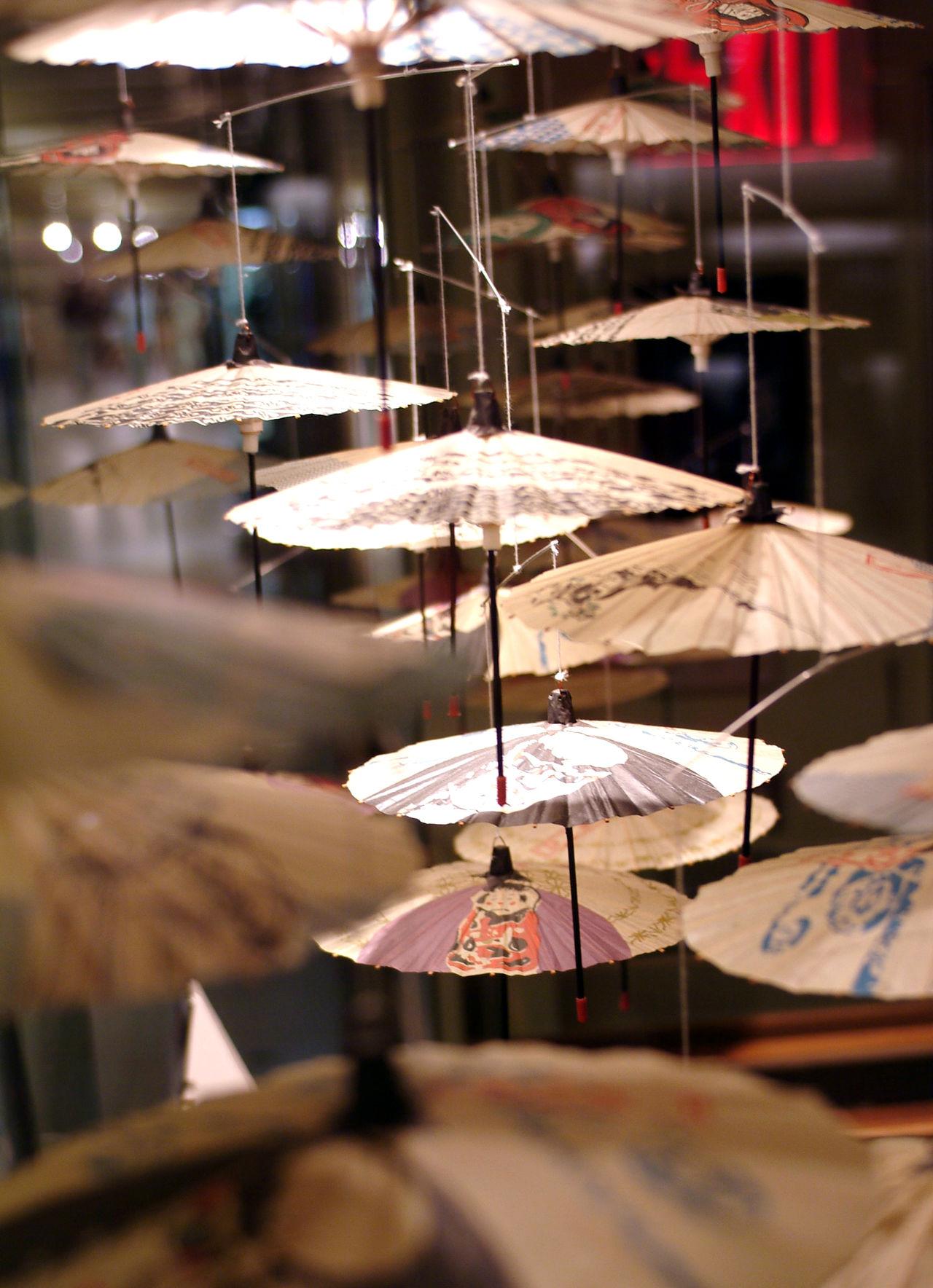 Hanging Umbrella Mobile Hand Painted Hanging Art Little Umbrellas Mobile Paper Mobile Paper Umbrellas Umbrella Umbrella Art
