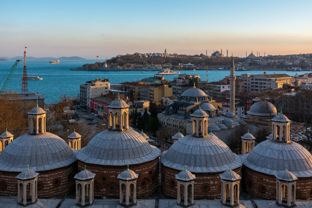 View of the Bosphorus from Tophane Architecture Ayasofya Bosphorus Day Golden Horn Hagia Sophia Istanbul Kılıç Ali Paşa Camii Marmara Sea No People Ottoman Empire Outdoors Prince Islands Sea Sultanahmet Tophane-i Amire Topkapi Turkey Türkei Türkiye Water