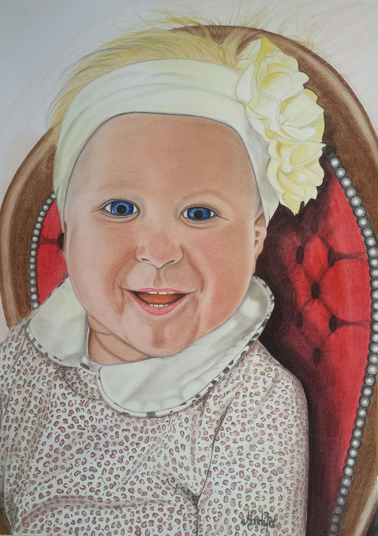 Pastels draw..... a beautiful baby GraphitePencil Pastel Colors Art Gallery Drawing