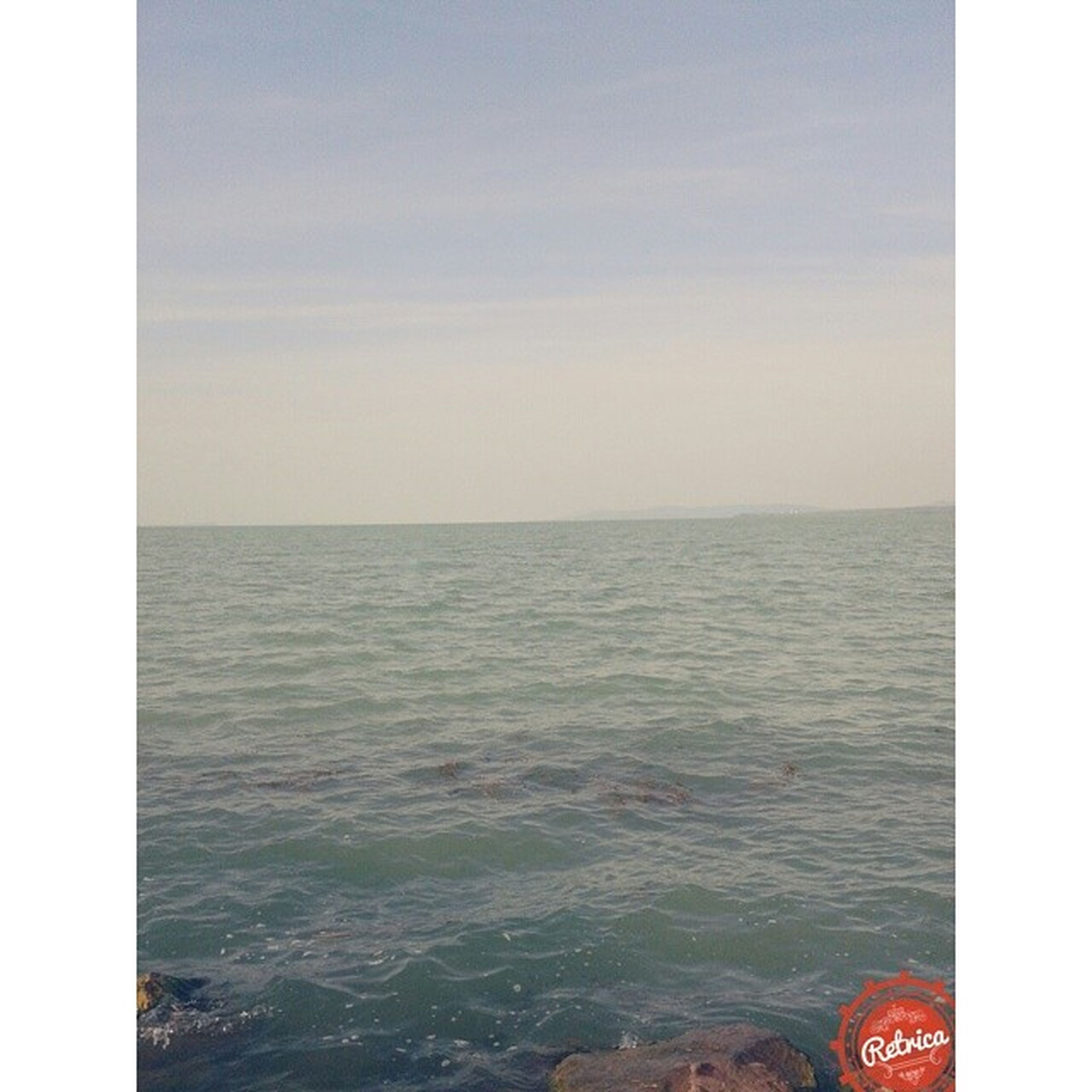 transfer print, sea, auto post production filter, water, horizon over water, scenics, sky, tranquil scene, tranquility, beauty in nature, nature, waterfront, idyllic, seascape, rippled, ocean, cloud - sky, outdoors, day, remote