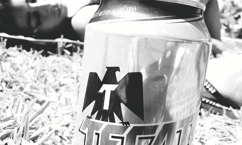 Sunlight One Person People Beer Blackandwhite
