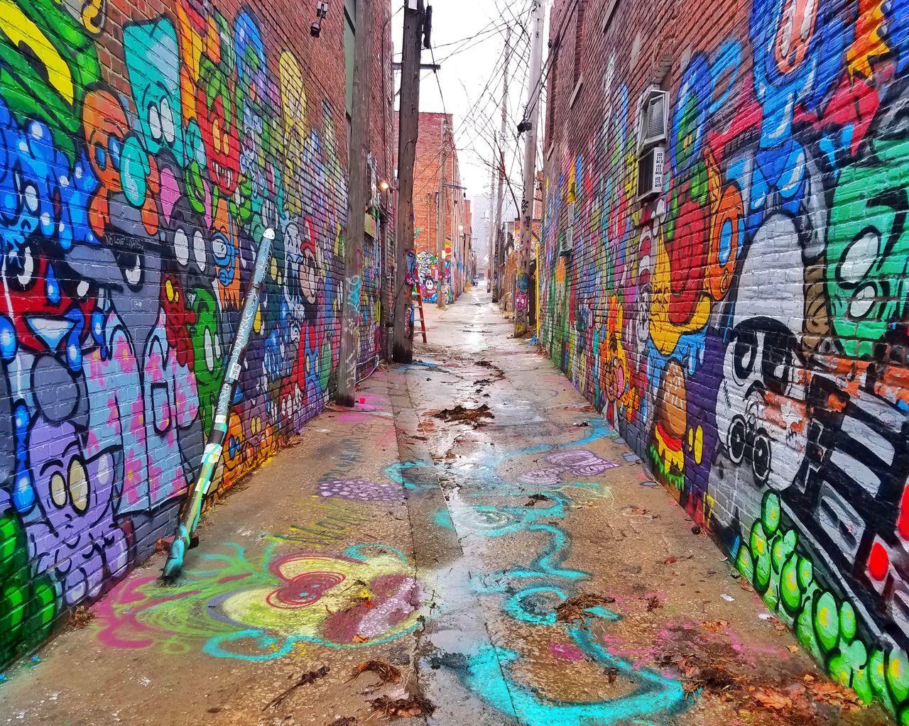 Multi Colored Graffiti Wall - Building Feature Street Art Creativity City Day Outdoors Building Exterior Spray Paint No People Architectural Detail Kansas City Illuminated Kansas Kansasmag Crossroads Crossroadskc