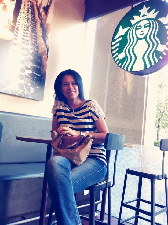 My mother Starbucks Coffee Break Coffee IPhoneography Model Relaxing Getting Inspired Woman Love Morning