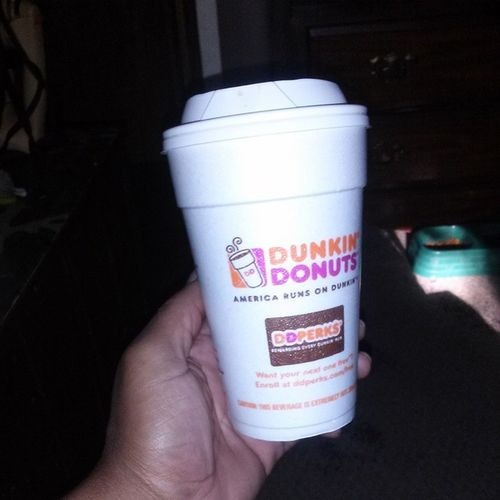 You know i had to go get my Dnd Dunkindoughnuts Pumpkinspice Coffee omg im in love ITS GOING DOWN lol addicted feen