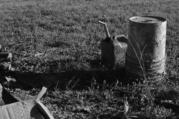 Blackandwhite Contrast Countryside Day Field Food Food And Drink Gasoline Grass Growth Junk Nature No People Outdoors Plant BYOPaper! The Great Outdoors